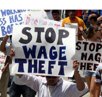 Stop Wage Theft Sign