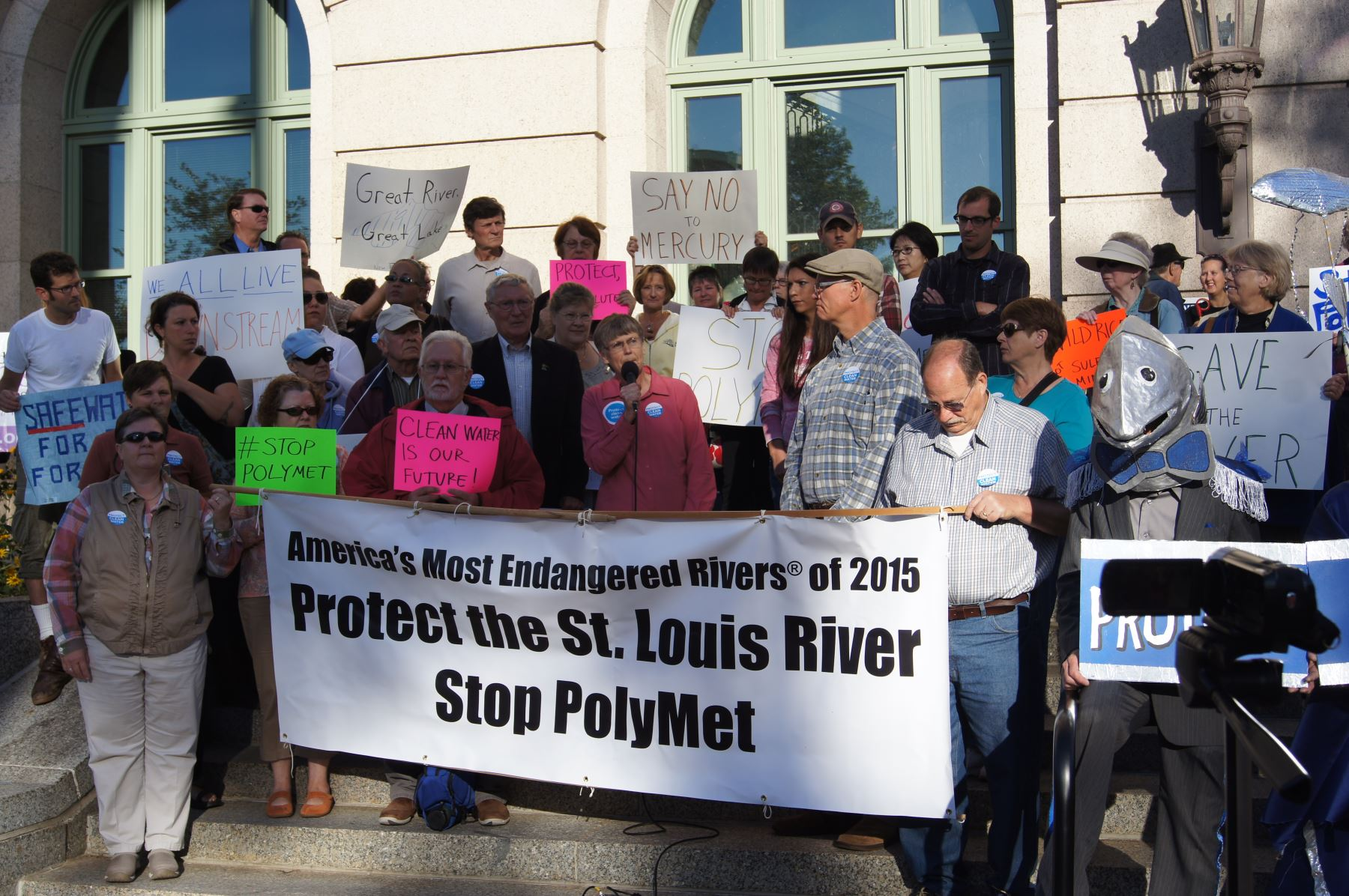 Photo from the Rally for the St Louis River, Sept 22, 2015